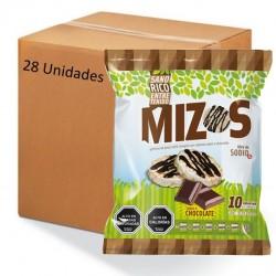 Caja galletas de arroz chocolate 28 x 20 gramos Marca Mizos