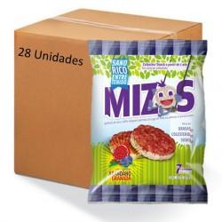 Caja galletas de arroz arandano 28 x 16 gramos Marca Mizos