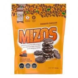 Galletas de arroz chocolate naranja 150 gramos Marca Mizos