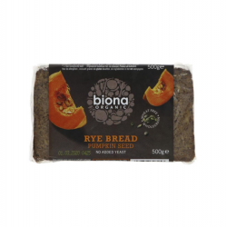 Rye y pumpkin seed bread organic 500 gramos Marca Biona